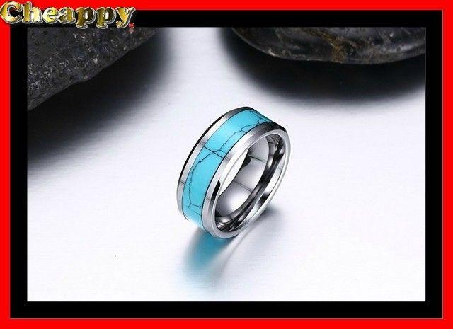 "Prachtige Wolfraam ring turquoise en zilver kleur ""Milan"" - Cheappy"