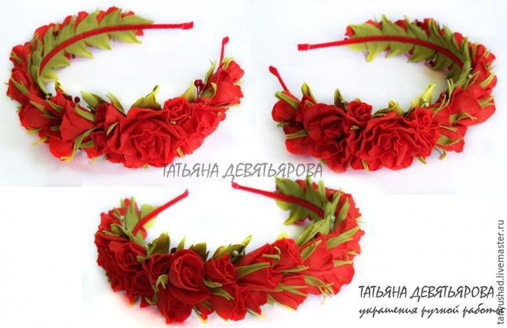 Как собрать в ободок розы из фоамирана - Ярмарка Мастеров - ручная работа…