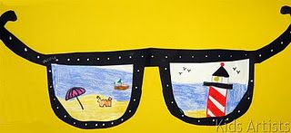 Students illustrate their visions of summer vacation, then write about their drawings