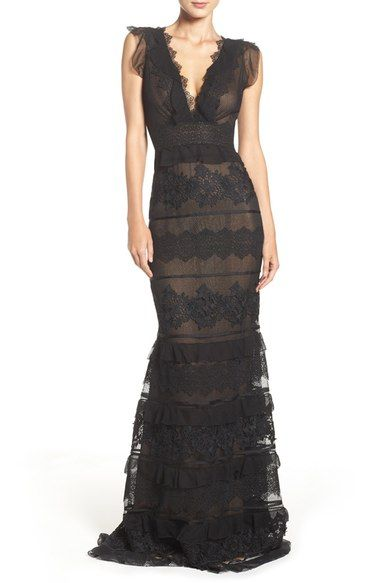 Sachin & Babi Noir Tiered Silk Gown available at #Nordstrom