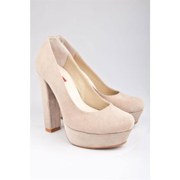 Обувь женская замша бежевая