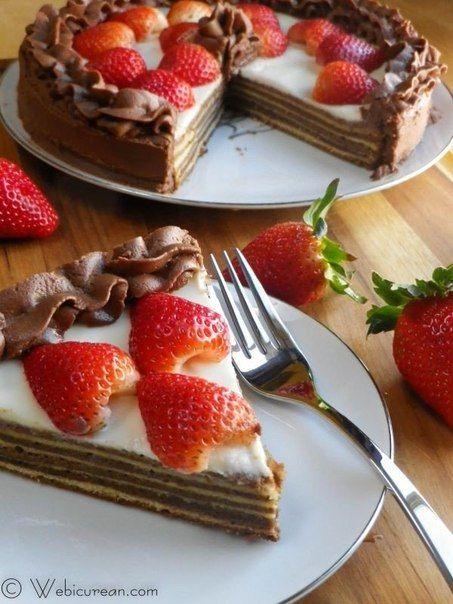 Шоколадный баумкухен, или дерево-пирог, со сметанным кремом » Кулинарные рецепты