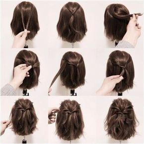 Причёски на средние волосы гиф
