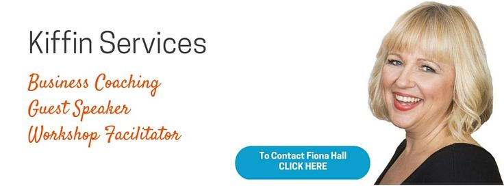 Kiffin services - Fiona Hall - Business coaching, Guest Speaker, Workshop Facilitator