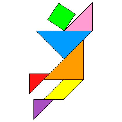 Tangram Jump - Tangram solution #15 - Providing teachers and pupils with tangram puzzle activities
