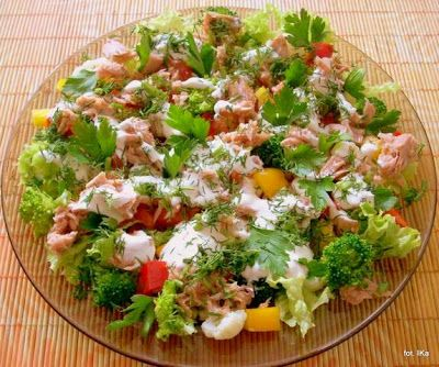 Smaczna Pyza - Sprawdzone przepisy kulinarne: Sałatka z tuńczykiem