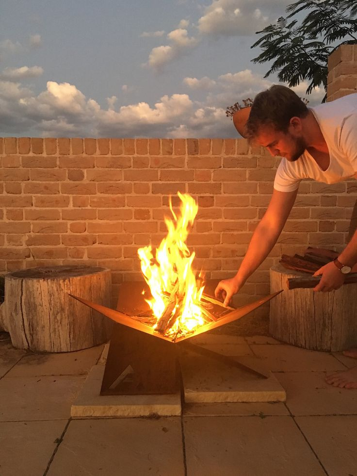 Fire-Away Fire Pit | the perfect shape for building a fire, drawing air from underneath to create a hotter fire with less smoke | Australian flat pack design