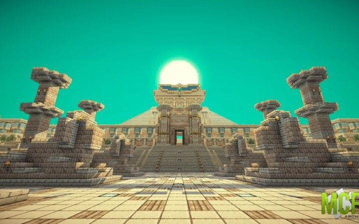 Egyptian Pyramid Minecraft Fire
