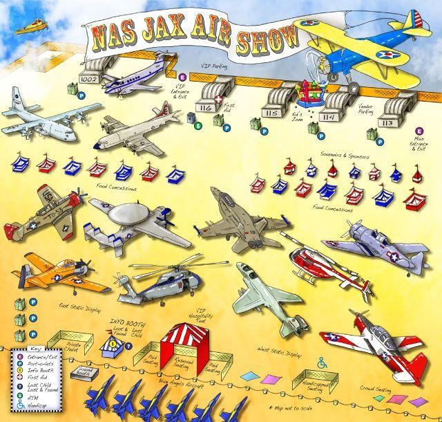 Nas Jax Nas Jax Air Show Map Click For Downloadable Pdf Us Navy Pinterest