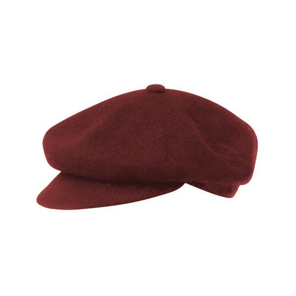 Kangol Wool Spitfire (3.480 RUB) ❤ liked on Polyvore featuring accessories, hats, brown, flat cap hat, 5-panel hats, wool flat cap, flat cap and kangol caps