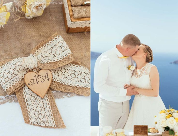 Rustic wedding in Santorini. Anna and Andrew