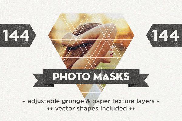 144 Photo Masks   Vector Shapes by kloroform on @creativemarket