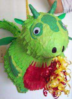 Sew Away We Go: Birthday Week - Completing the Crazy Dragon Pinata Making Scheme