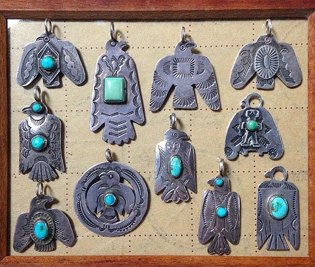 nice Vintage Native American sterling silver and turquoise pendants and brooches. Thu... by post_link