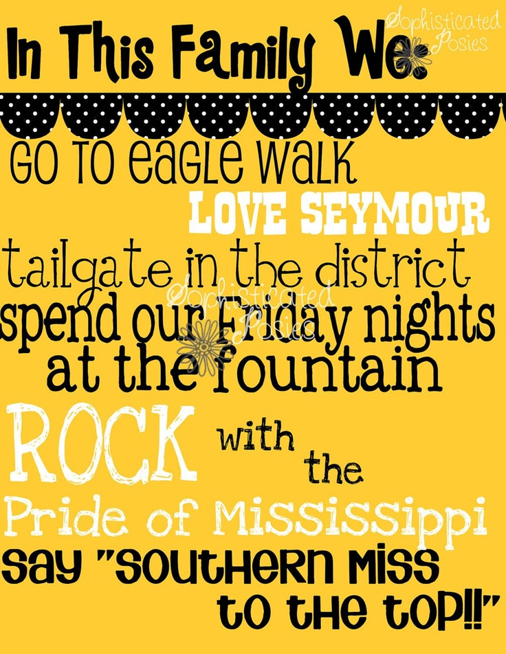 University of Southern Mississippi Golden Eagles - traditions print