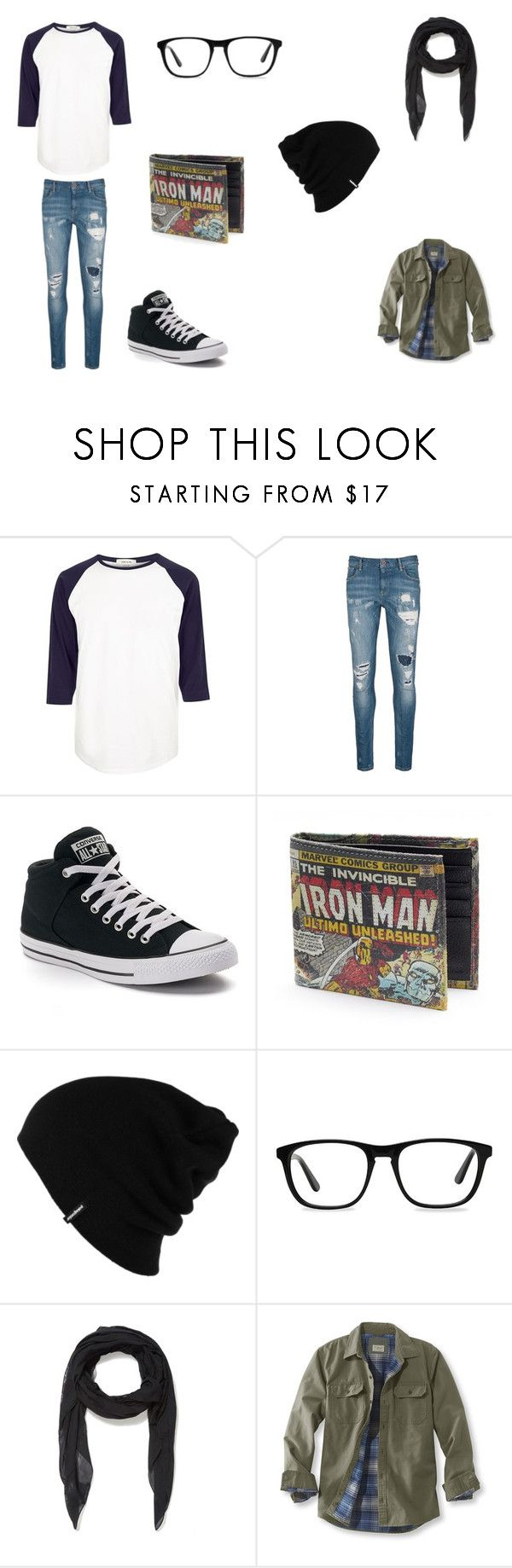 """""""Simple Guy's Outfit"""" by cinnabunphil on Polyvore featuring River Island, Scotch & Soda, Converse, Patagonia, Ace, McQ by Alexander McQueen, L.L.Bean, men's fashion and menswear"""
