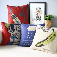 Moderne Pop littéraire oreiller, Andy Banane Oreiller coussin, taie d'oreiller, coussin de canapé Oreillers décoratifs pour la maison