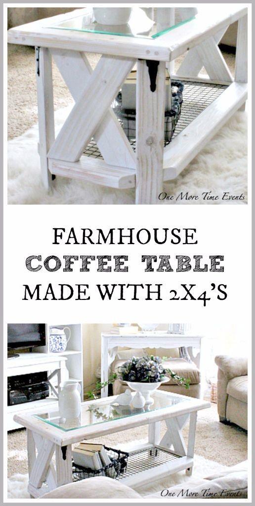 1000 ideas about farmhouse coffee tables on pinterest for 2x4 farm table