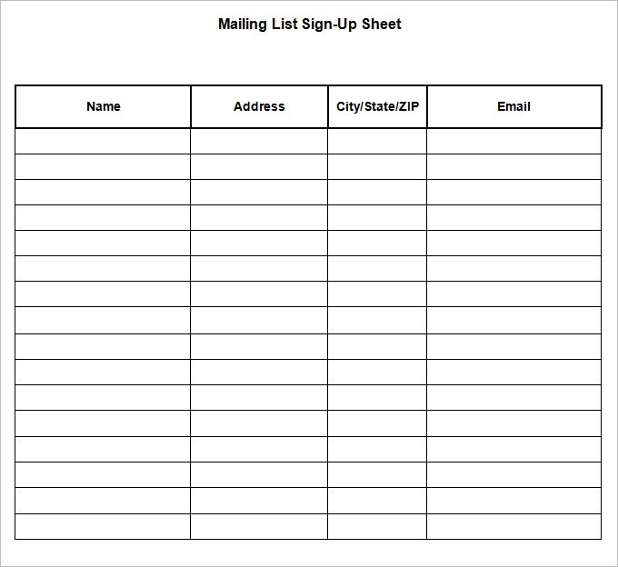 21+ Sign Up Sheets - Free Word, Excel & PDF Documents Download   Free & Premium Templates