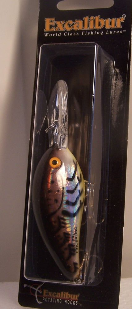Excalibur Fat Free Fingerling  Crankbait smallmouth bass Color  #Excalibur.  Many more lures listed, different brands