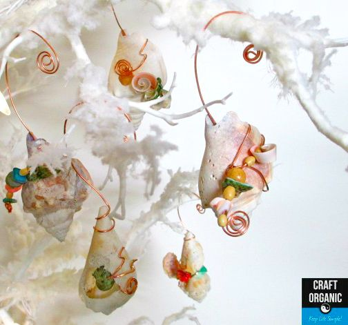 153 best coastal christmas crafts images on pinterest for Seashell ornament ideas
