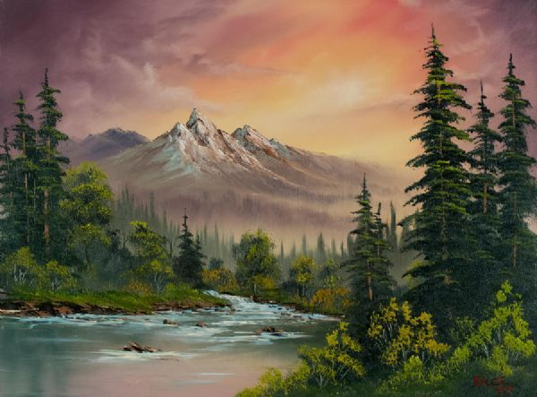 Bob Ross Paintings  Mom and I enjoy watching his show everyday.  Beautiful and relaxing.