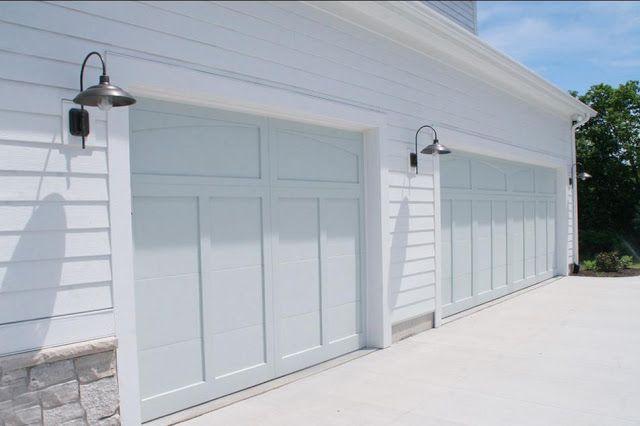 Benjamin Moore Silver Marlin - love the color on a garage door idea!