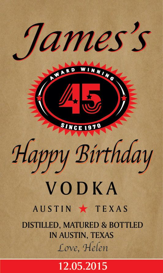 Personalized Vodka Label Tito's Style Best Gift for by MagicLabels