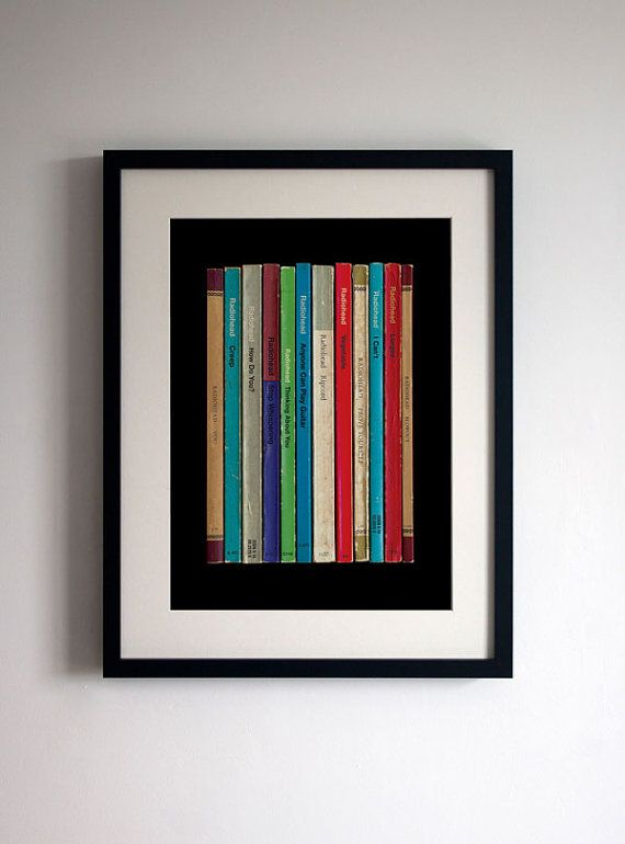 Radiohead 'Pablo Honey' Album As Books Poster by StandardDesigns