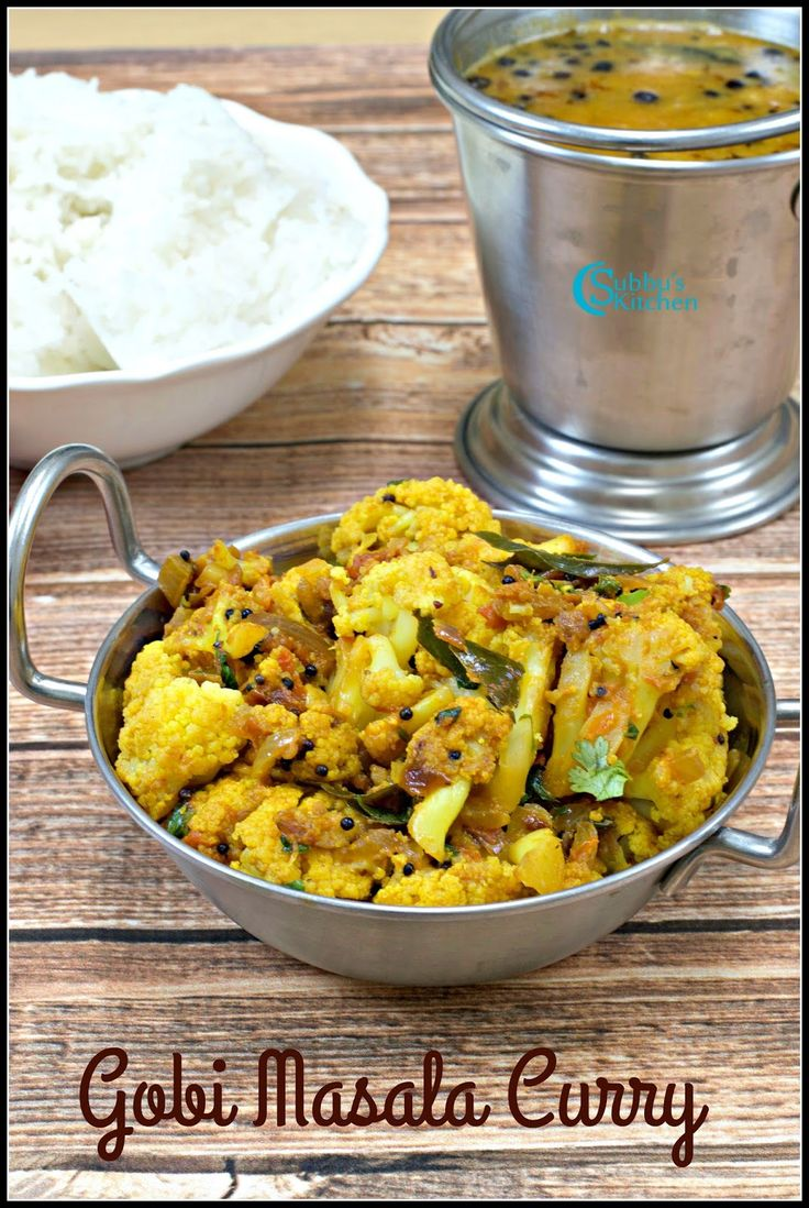 Cauliflower Poriyal | Gobi Masala Curry