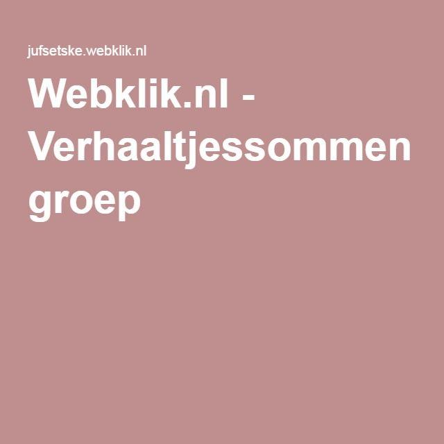 Webklik.nl - Verhaaltjessommen groep 3