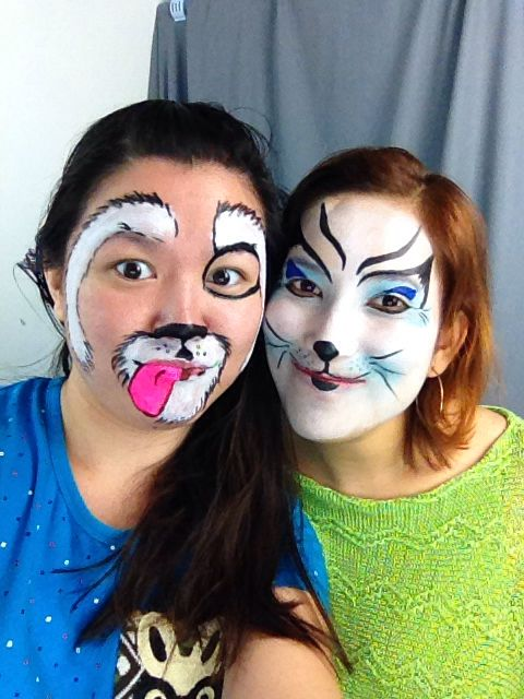 I make the kitty one :D So fun doing face painting