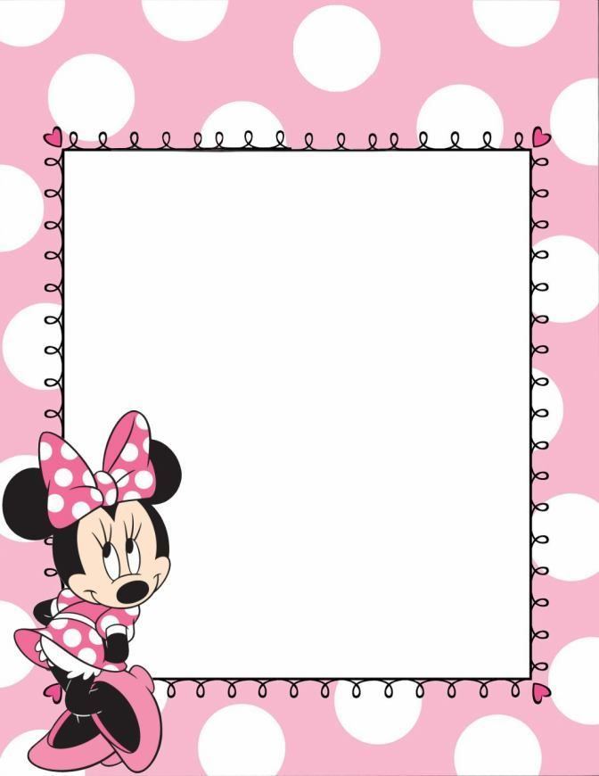 Minnie Mouse Borders Stationary Backgrounds Minnie