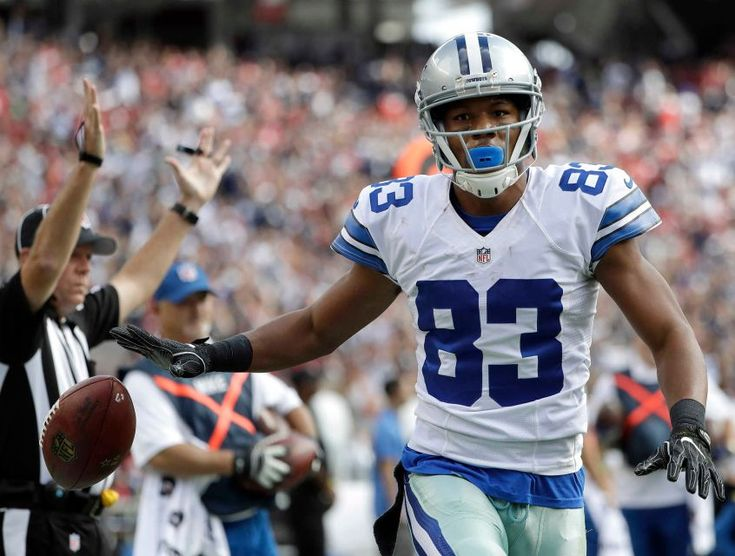 COWBOYS 24 - 49'ers -17:   Dallas Cowboys wide receiver Terrance Williams (83) celebrates after catching a touchdown pass against the San Francisco 49ers during the first half of an NFL football game in Santa Clara, Calif., Sunday, Oct. 2, 2016.