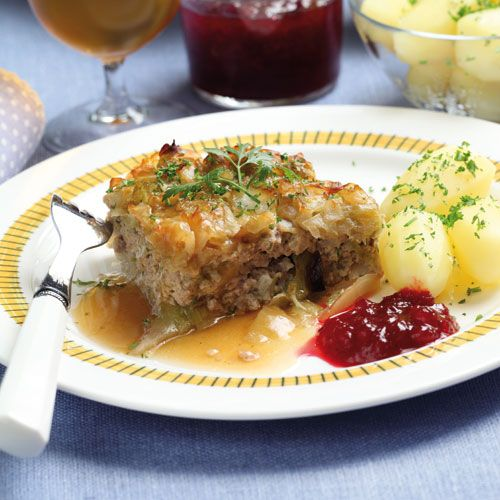 Recept på Kålpudding i långpanna från - Hemmets Journal