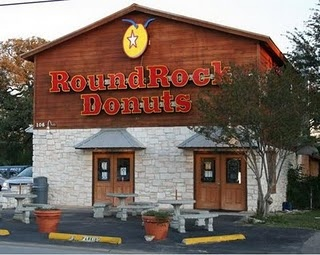 Round Rock Donuts in Round Rock, TX. We stopped there on our way down to the ocean! Great donuts! Been on the Travel Channel.
