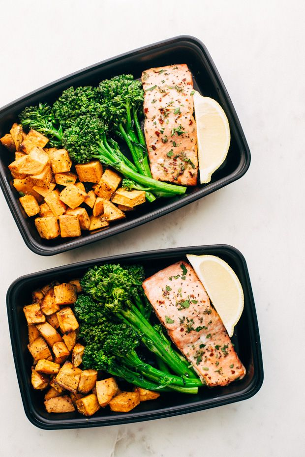 Learn how to meal prep this easy lemon roasted salmon with sweet potatoes and broccolini. It's simple to do and works great for easy lunches and dinners! Just heat and EAT. And here we are! Just bulldozing into Halloween and BAM. It's NOVEMBER on Tuesday. Which we all know officially means the beginning of stretchy-pants-season. There's just …