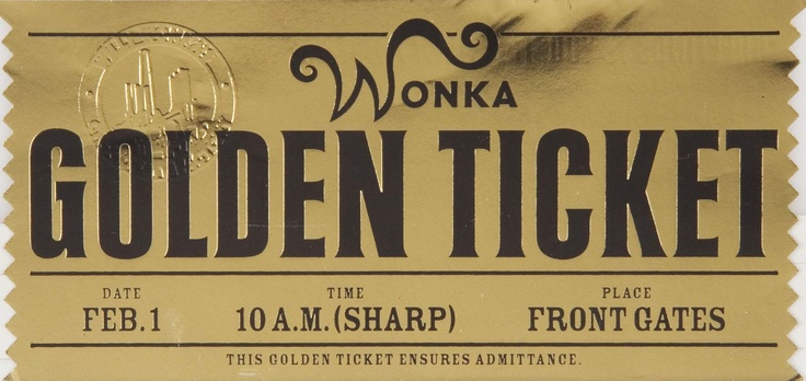 Golden Ticket Front Charlie And The Chocolate Factory