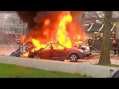 Seattle Helicopter Crash Live Scene
