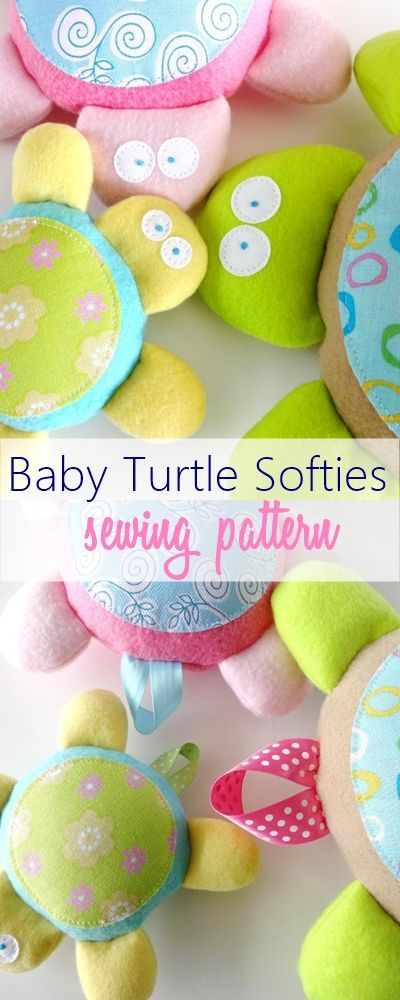 Baby Turtle Softies by Precious Patts - Craftsy                                                                                                                                                                                 More