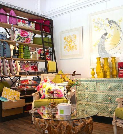 Elegant customers walk through your furniture u second hand goods to get to the fruit u veg