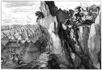 Jonatán derrota a los filisteos (David Martín, 1700)