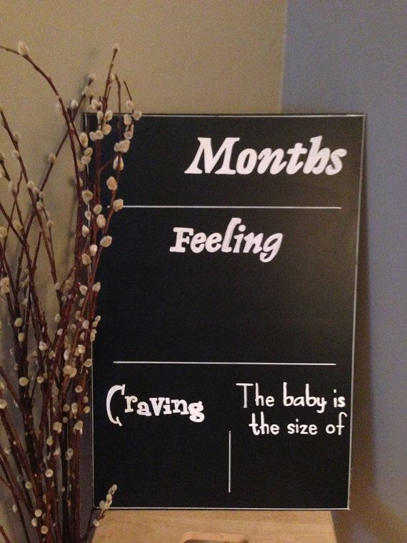 REUSABLE Pregnancy Tracker Chalkboard - Pregnancy or Baby Shower Gift / Photo Prop. 12 x 24 inch on Etsy, $30.00