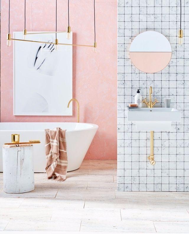 31 best Salle de bain colorée images on Pinterest - mosaique rose salle de bain