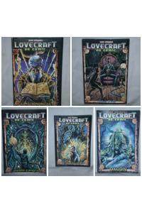 LOVECRAFT en COMIC - Pack de cinco cuentos (primera edición de 16 páginas c/u) en donde la pluma y la tinta china de Juan Vásquez (destacado ilustrador y maestro del cómic chileno) reinterpretan a Lovecraft con estos clásicos del terror cósmico y la ciencia ficción.