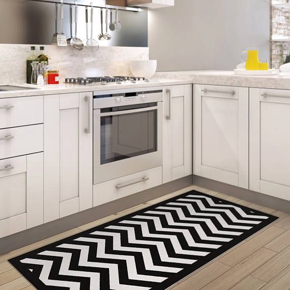 Black and white chevron area rug printed linoleum rug vinyl