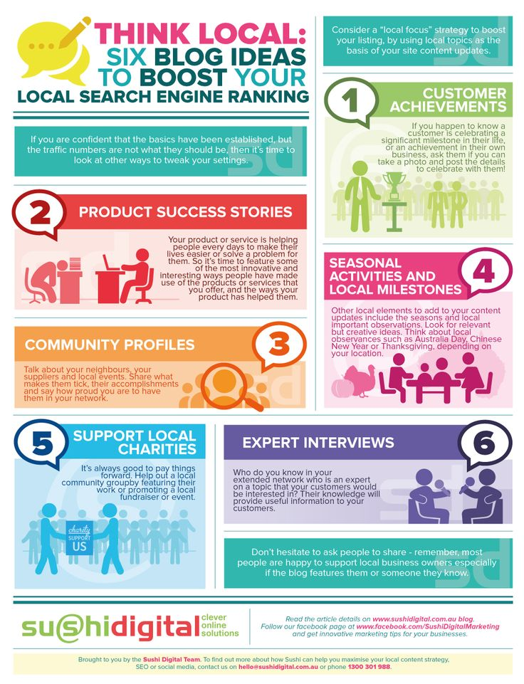 Think Local: Six #Blog Ideas to Boost Your #Local #Search Engine Rankings