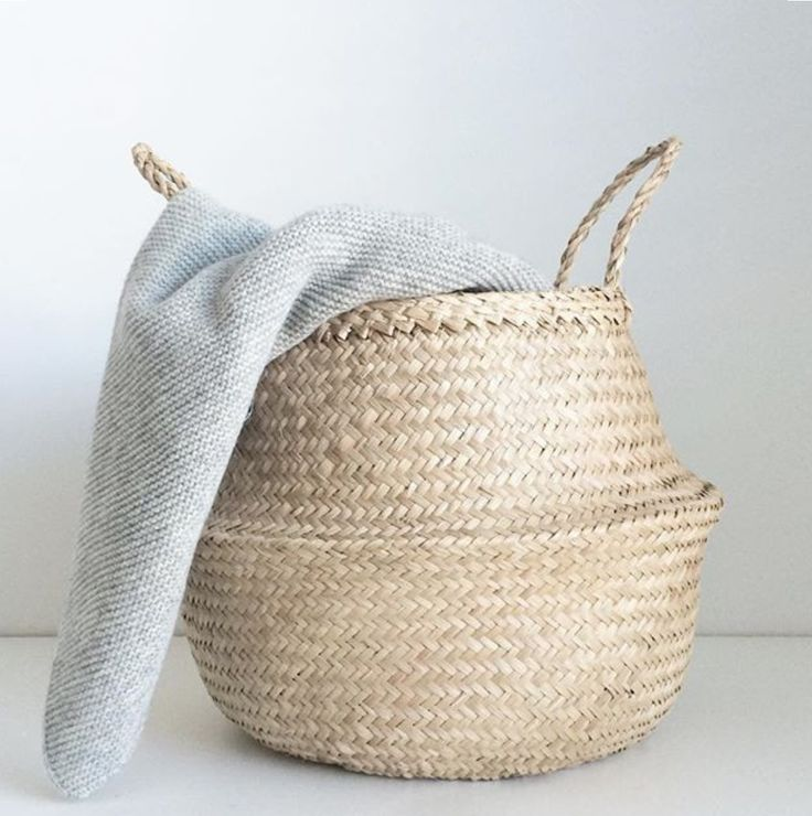 Every home needs one of these.… store blankets, plants, toys and magazines in our stylish Belly Baskets ✖
