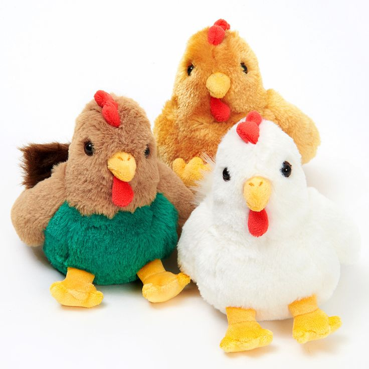 """2017 is the Year of the Chicken! Celebrate in style with one of these fluffy chicken friends and make sure you make the most of it - chickens will have to wait another 12 years for their next turn in the spotlight. Choose from White, Brown, or Gold. Each measures 5.1"""" x 3.5"""" x 6.7"""" and is sure prove your """"clucky"""" charm for 2017!  #tokyootakumode #plushie #Birds"""