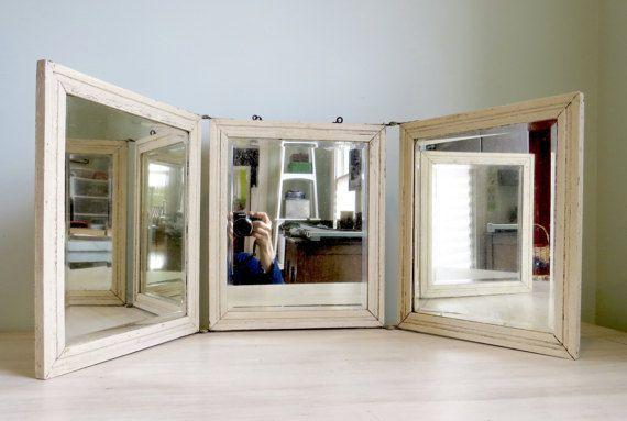 wabi sabi mirror tri fold mirror folding mirror standing